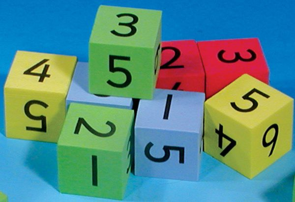 Tysta tärningar, siffror, 8-pack