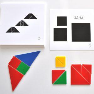Tangram geometriska figurer