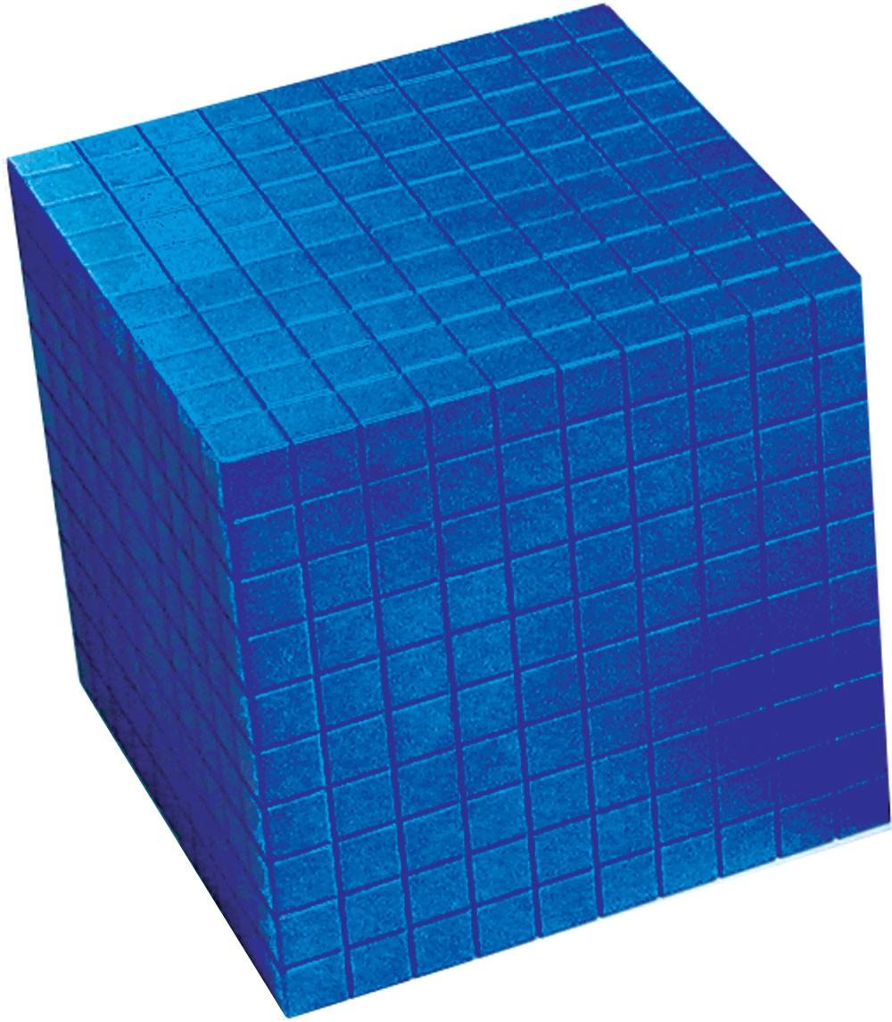 Bas 10, 1 tusenkub blå