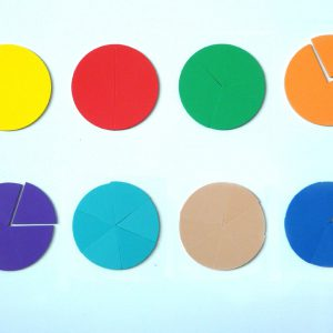 Bråkcirklar, magnetiska - diam. 10 cm