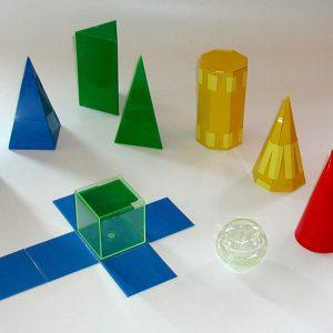 Geo-figurer med plasthölje