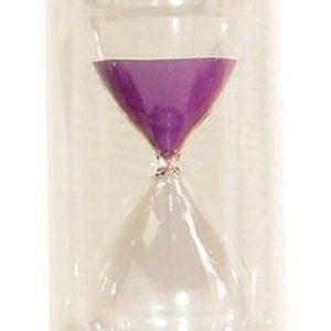 Timglass 15min, lila