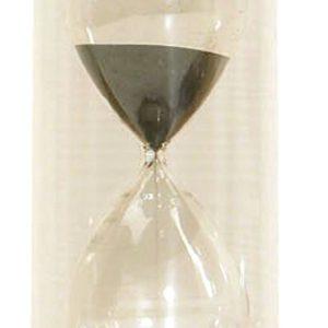 Timglas 30min, svart
