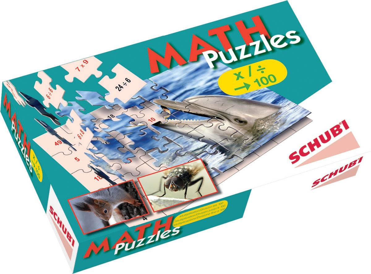 Mattepussel multiplikation & division, talområdet 1-100