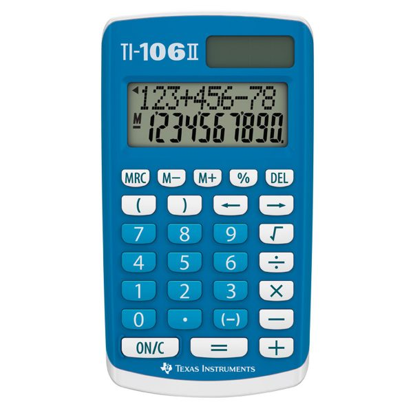 Miniräknare TI-106 II, Texas - solcell.