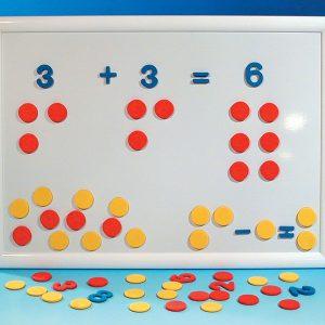 Siffror & tecken blå färg