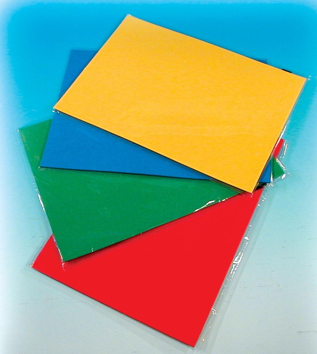 Magnetiska A4-ark, 4-pack, fyra olika färger