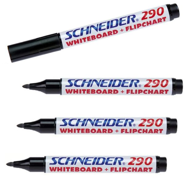 Whiteboardpenna 4-pack, svart