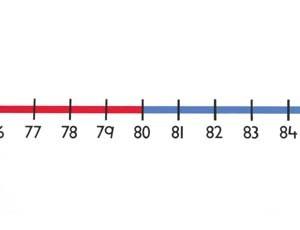 Tallinje 0-100 200x20cm