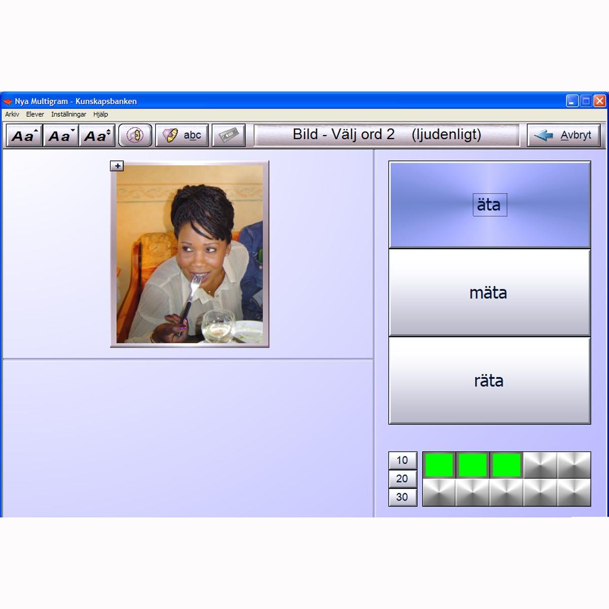 Multigram nivå 2, kunskapbanken