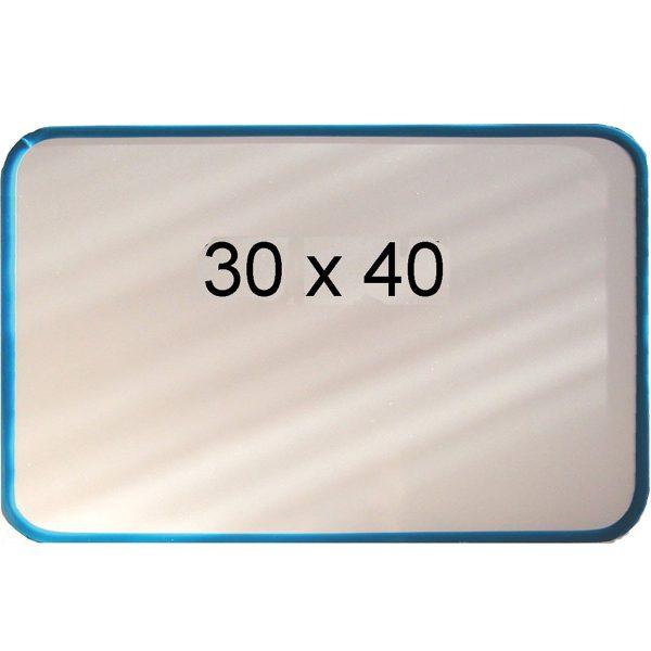 Magnet & whiteboardtavla 30 x 40 blå ram