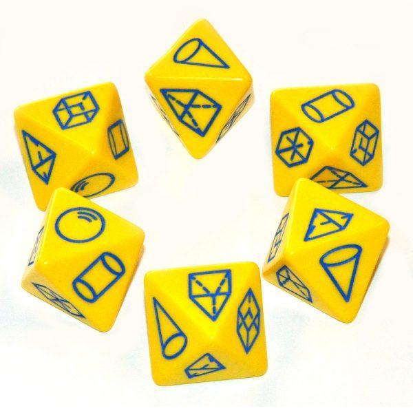 Tärningar geometriska figurer 6 st