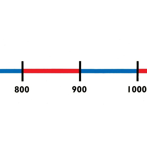 Tallinje 0-1000 10 hundratal 10-pack 40X6cm