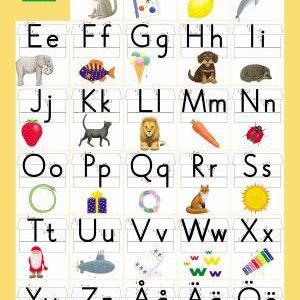 Bokstavsriket - Alfabetskort, 8-pack