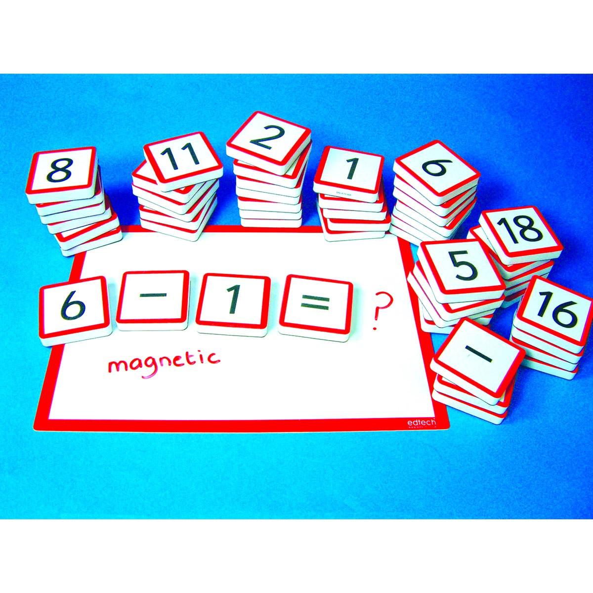 Magnetiska sifferbrickor