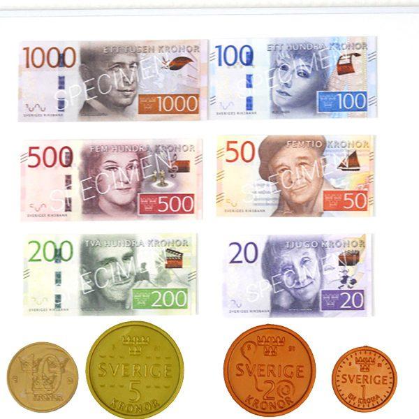 Demo-pengar med magnet - halv sats