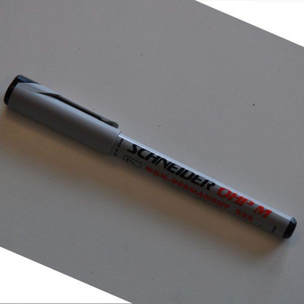 OH penna vattenlöslig svart 4-pack