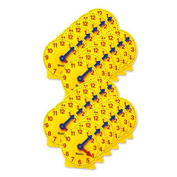 Elevklockor med synkrona visare 6-pack