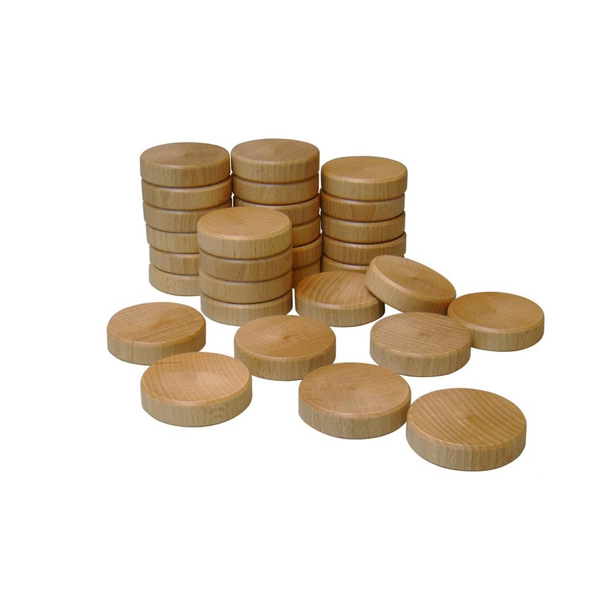 Set runda träbrickor till Jakkolo 30 st