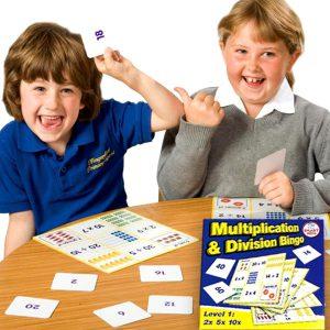 Mattebingo multiplikation & division nivå1