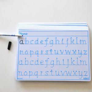 Alfabetstavla A4 gemener A4 30-pack