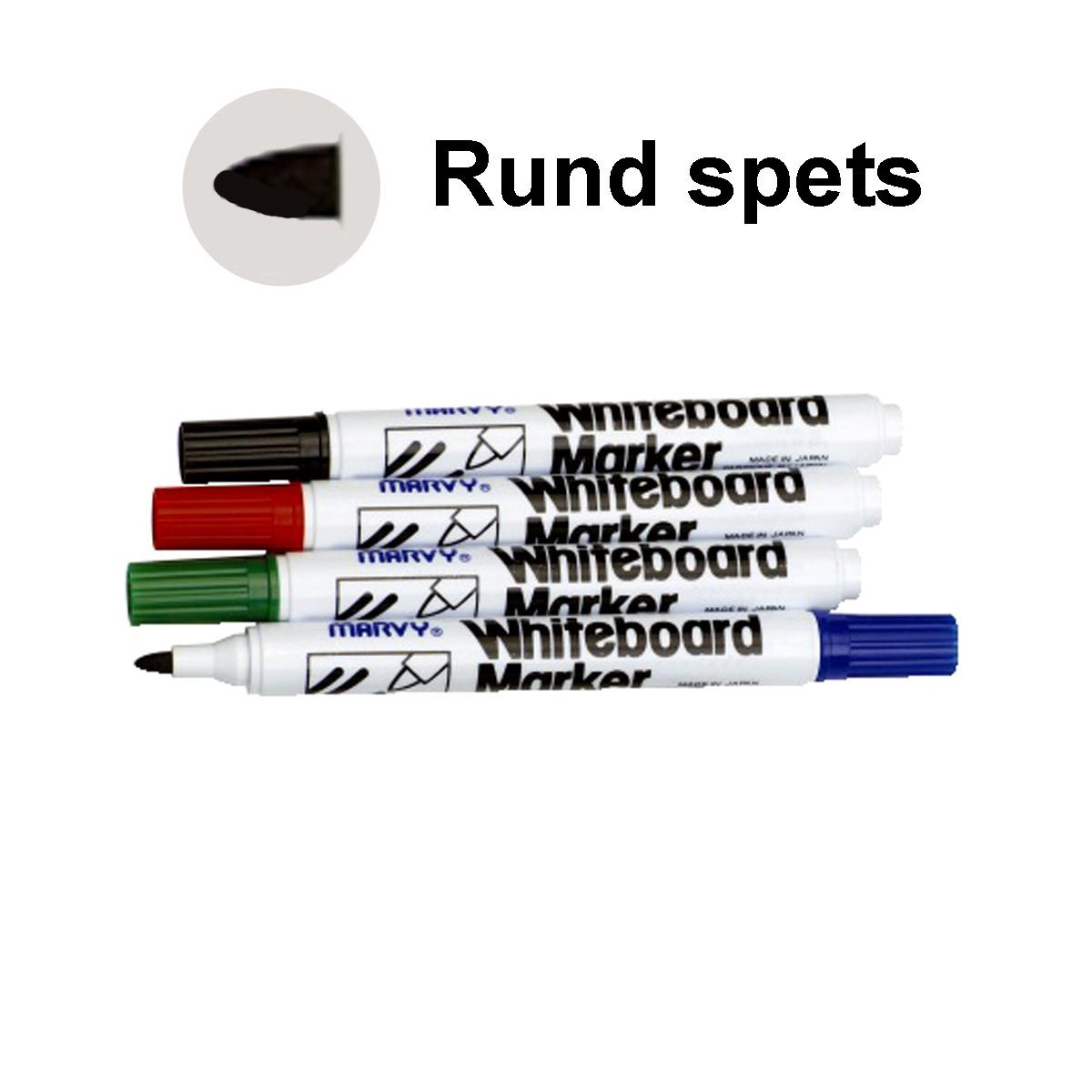 Whiteboard Marker MARVY rund 4 färger/fp