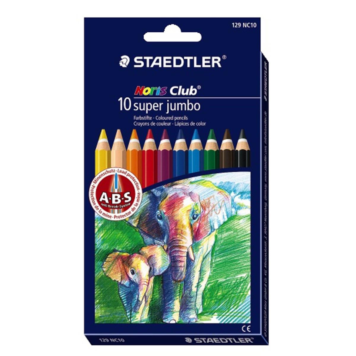 Färgpenna STAEDTLER Jumbo 10 färger