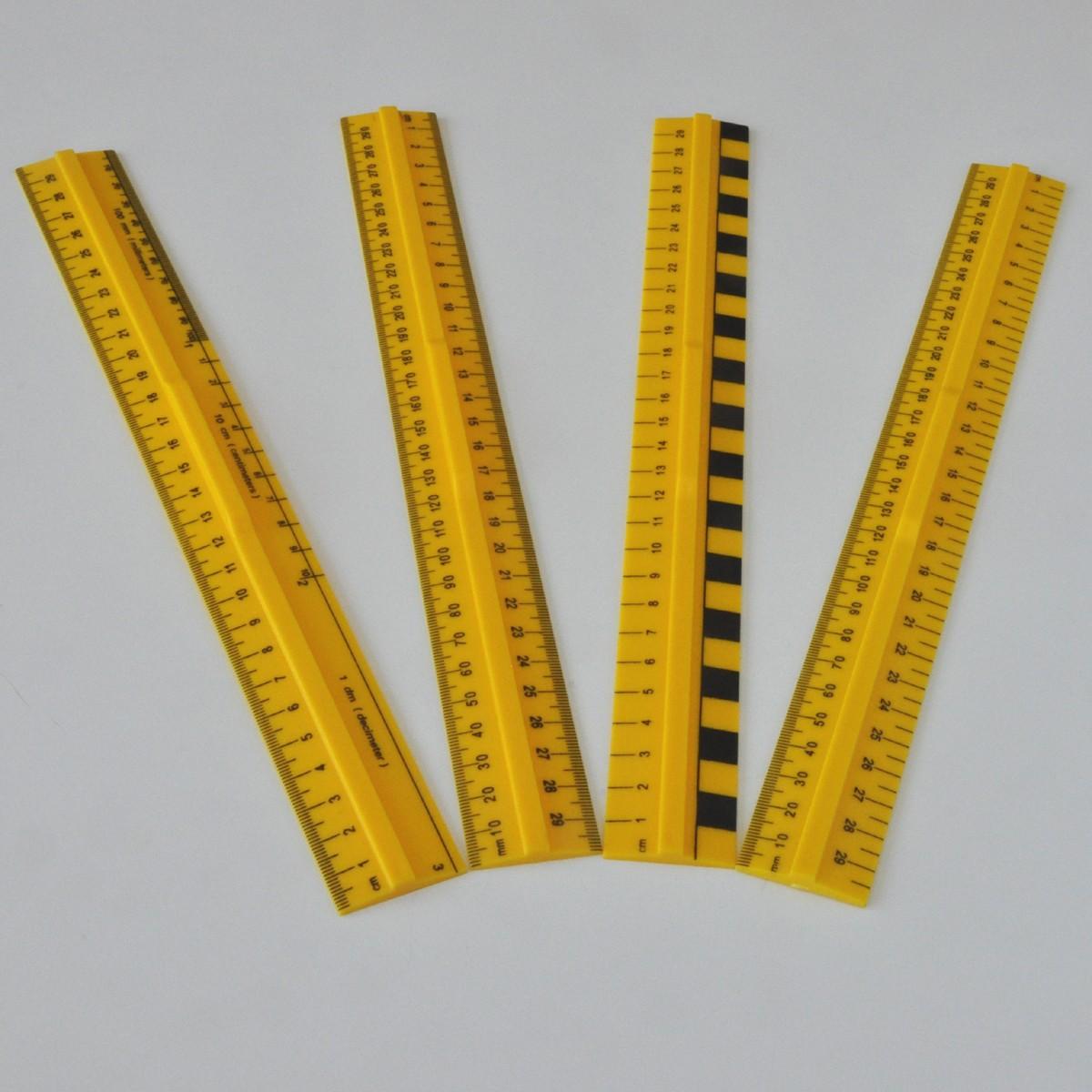 Linjaler 30cm 4-pack