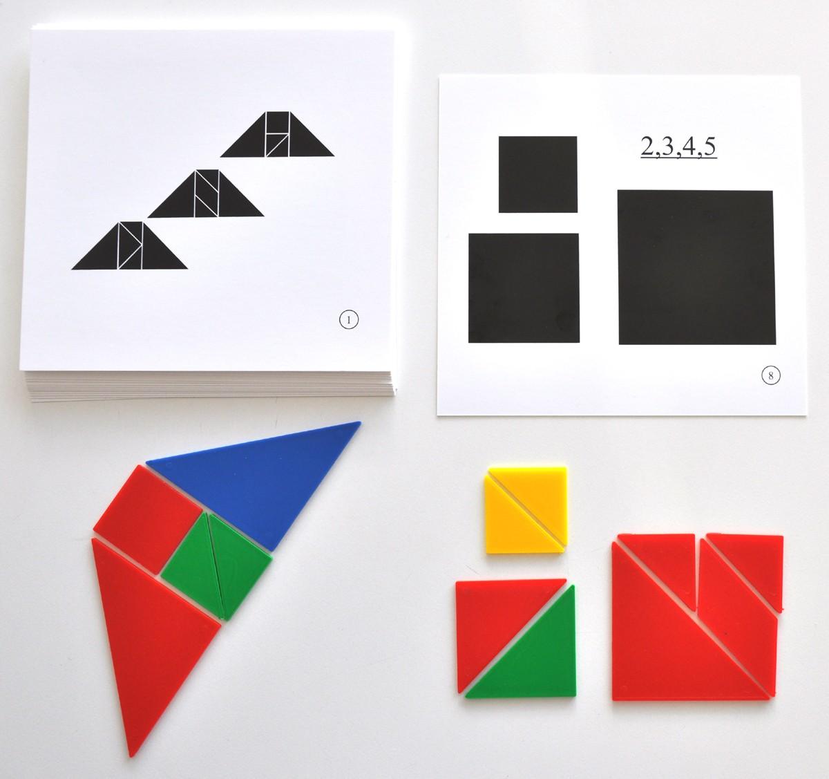 """Mönsterkort för tangram """"Geometriska figurer"""""""