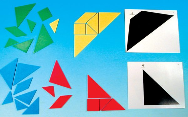 Tangram, geometriska figurer