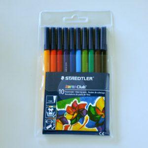 Fiberpenna STAEDTLER 10 färger