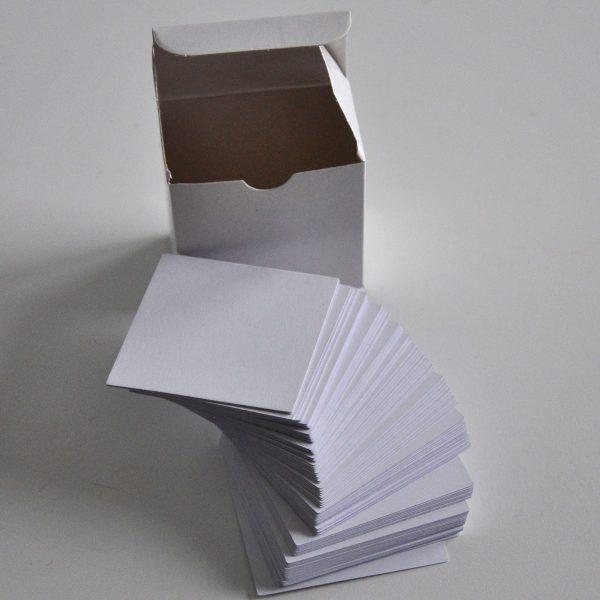 Blanka kort till tärning med fickor