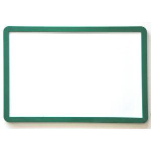 Magnet & whiteboardtavla A4 grön ram