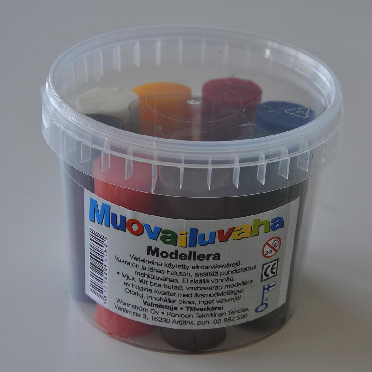 Modellera bivax 500g 8 färger