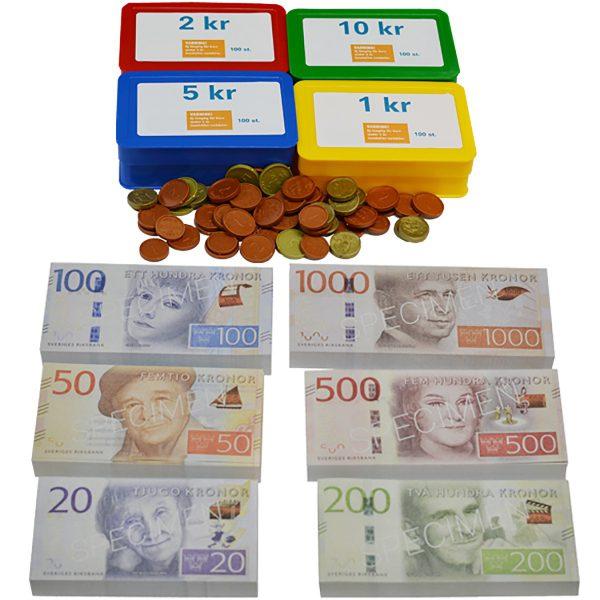 Pengar - Mynt och sedelpaket