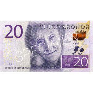 Pengar - Sedlar 20 kr / 100-pack