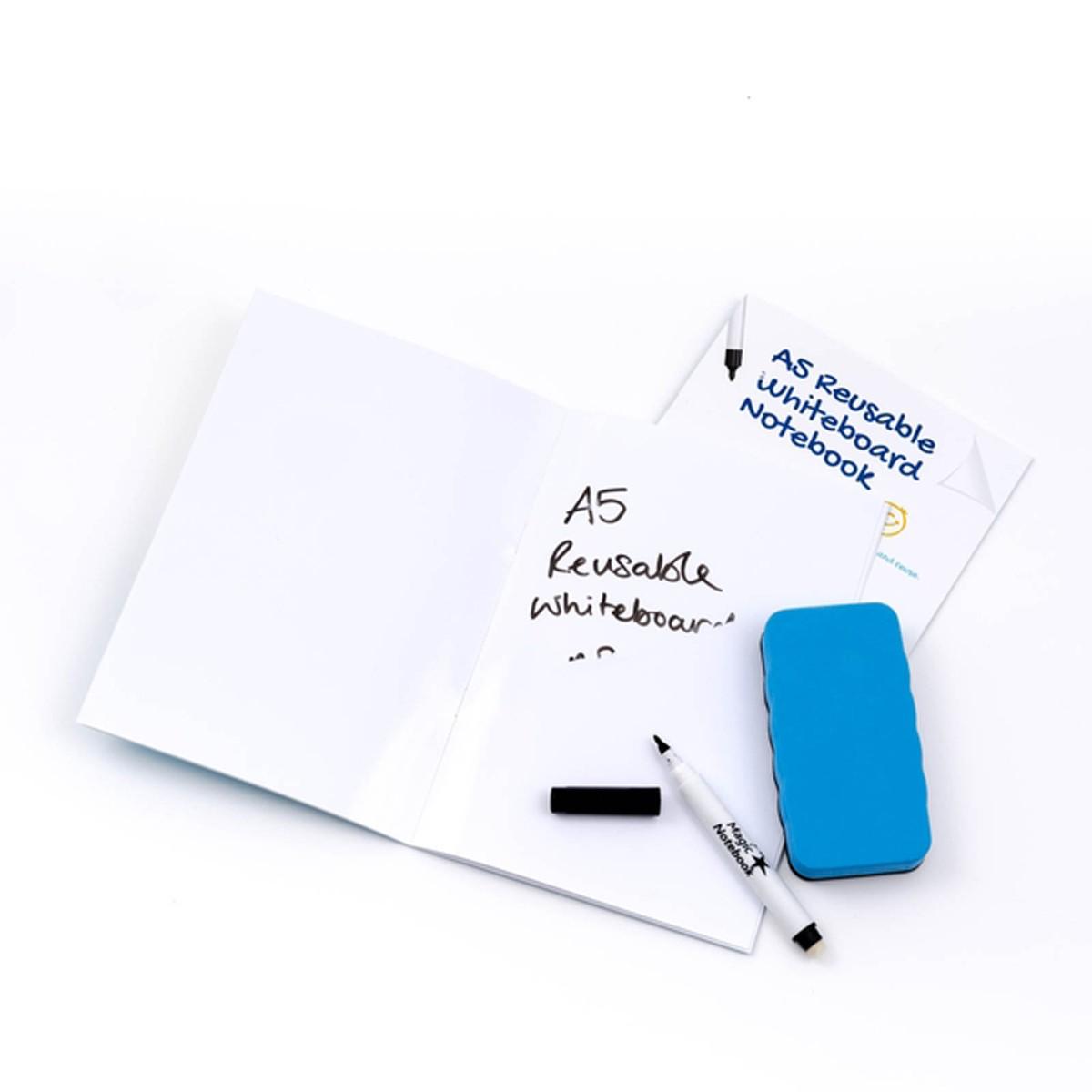 Whiteboard Skrivhäfte A5 blank
