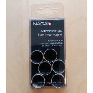Metallringar till pennor 6st 16mm