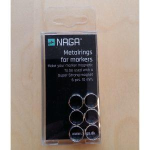 Metallringar till pennor 6st 10mm