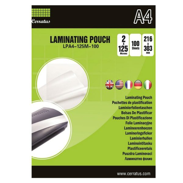 Lamineringsfickor A4 100-pack