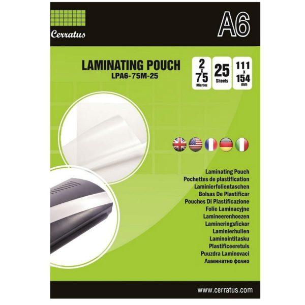 Lamineringsfickor A6 100-pack