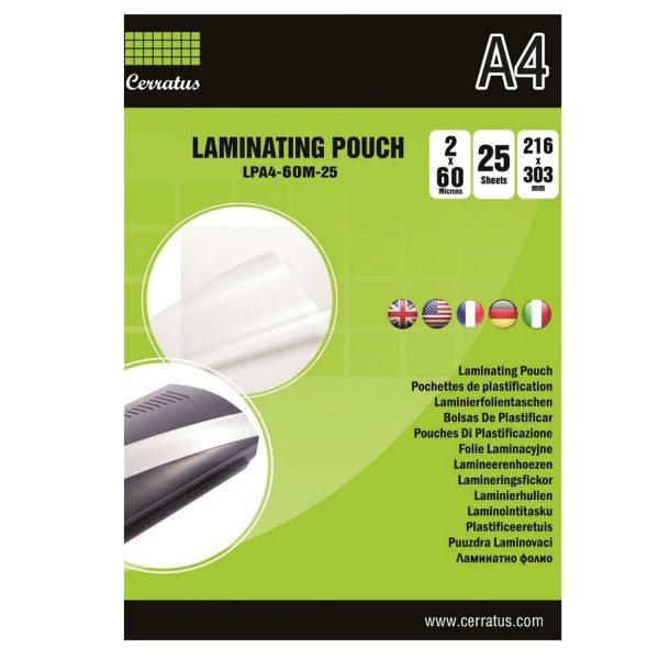Lamineringsfickor A4 25-pack