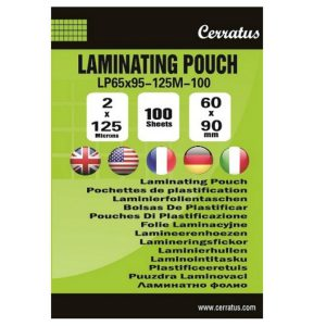 Lamineringsfickor 60x90mm 25-pack