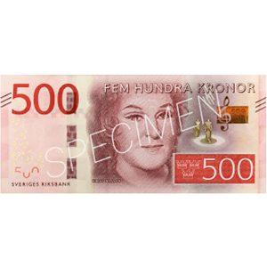 Pengar - Sedlar 500 kr / 100-pack