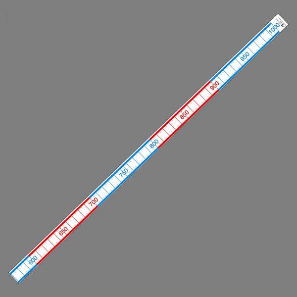 Tallinje 0-1000, 500x9cm