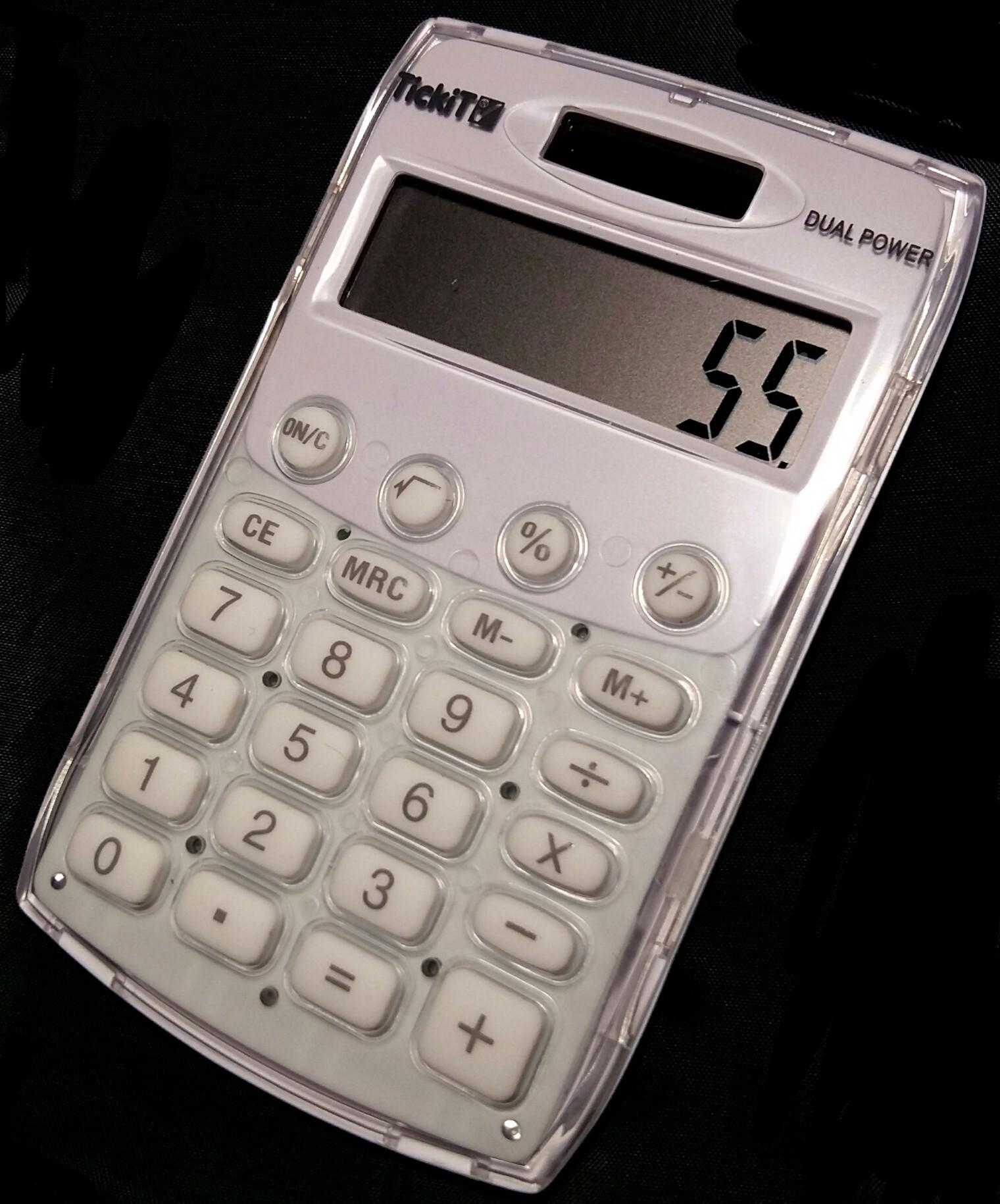 Miniräknare Tickit, Solcell