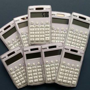 Miniräknare Tickit, Solcell 10-pack