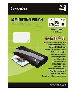 """Lamineringsfickor A4 25-pack """"Snabb laminering"""""""