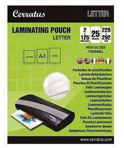 """25-pack Lamineringsfickor """"Letter"""" 229x292mm"""