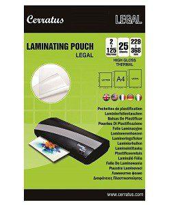 "25-pack Lamineringsfickor ""Legal"" 229x368mm"